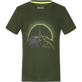 Regatta Bosley III Camiseta Niños, racing green